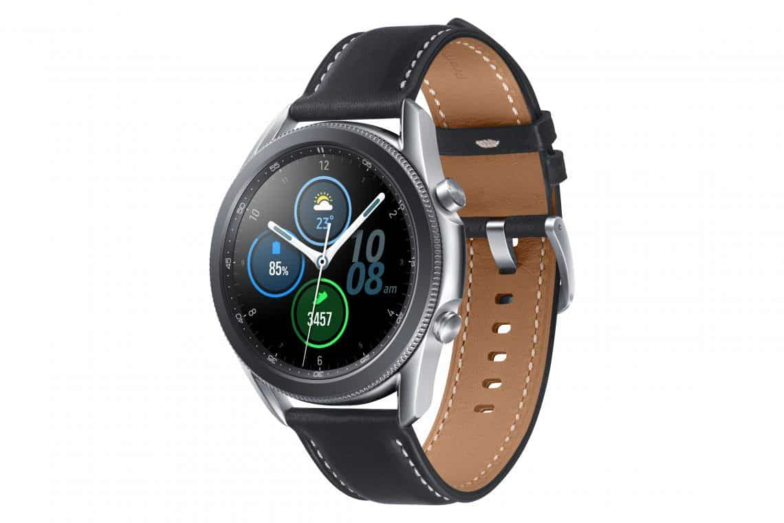 Samsung Galaxy Watch 3 Test Fitness Sport Training Reisen UrlaubSamsung Galaxy Watch3 SM R840 BT 45mm Mystic Silver 45 RGB