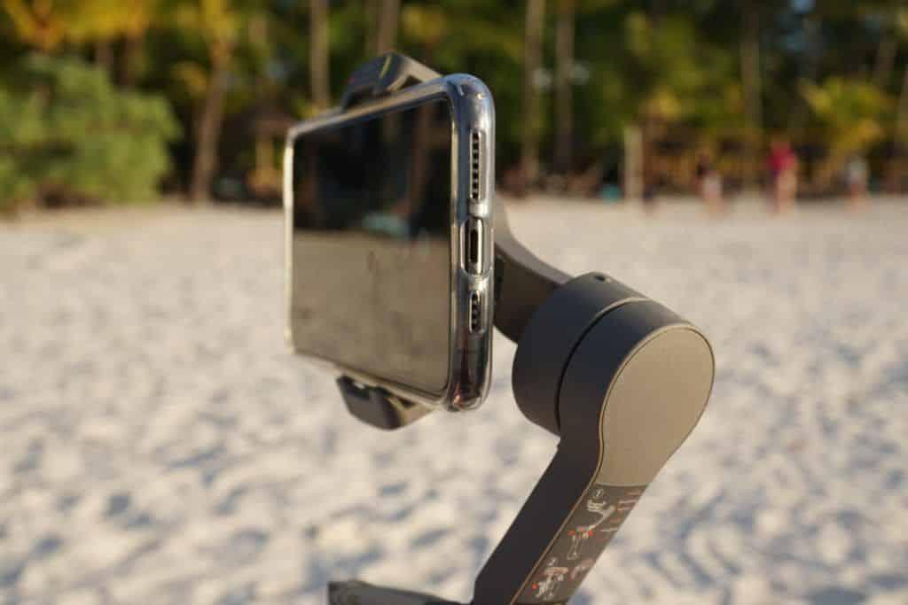 Wir haben auf der Insel Mauritius den Osmo Mobile 3 in Kombination mit einem iPhone 11 Pro Max getestet. Foto: Sascha Tegtmeyer