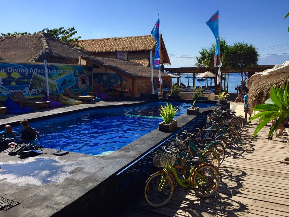 Die Basis der Dream Divers auf Gili Trawangan. Foto: Sascha Tegtmeyer