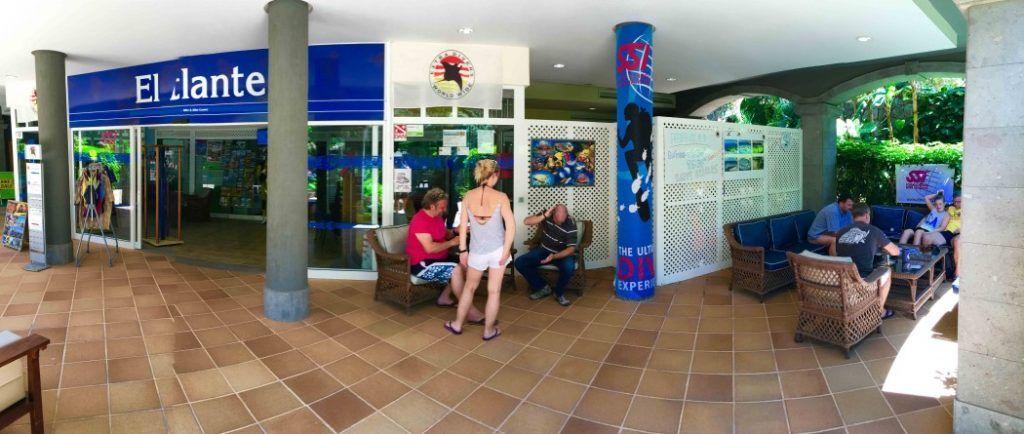 Die Tauchbasis der Extra Divers im Hotel Cordial Mogán Playa. Foto: Sascha Tegtmeyer