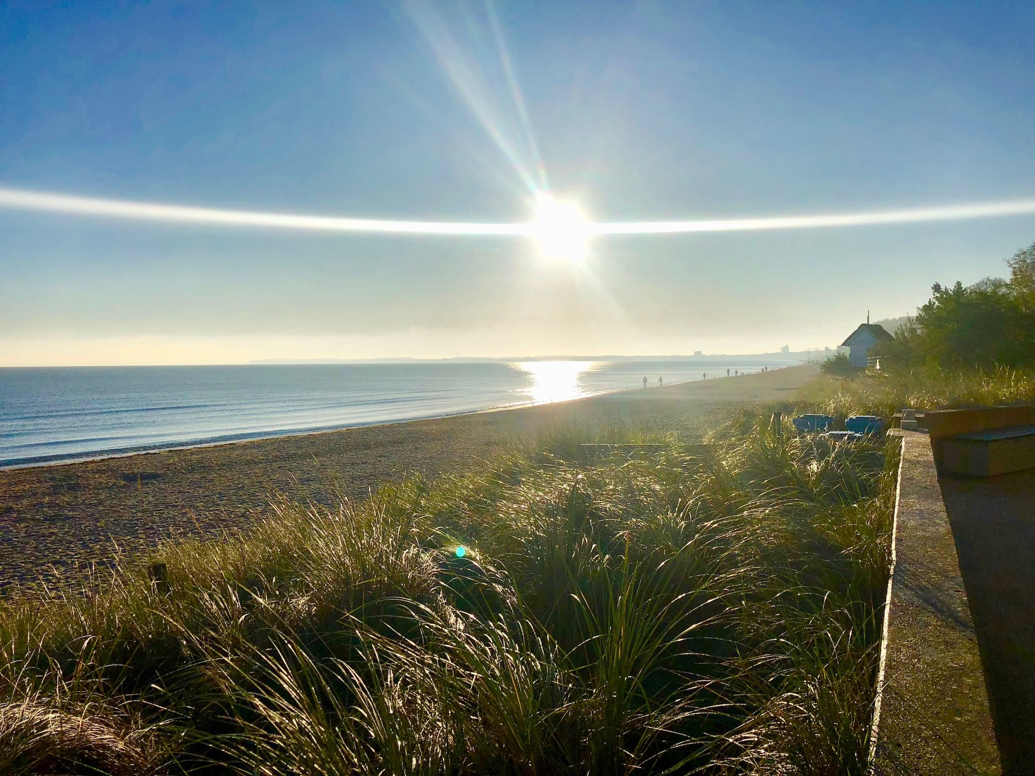 Baltic Sea holiday in autumn: that's how beautiful a November morning in Scharbeutz can be! Photo: Sascha Tegtmeyer