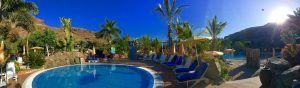 Relaxen auf Gran Canaria: nach der Ankunft geht es erst einmal zum Schwimmen in den Hotel-Pool. Foto: Sascha Tegtmeyer