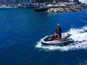 Auf Gran Canaria gibt es zahlreiche Jet-Ski-Verleihe, die auch geführte Touren anbieten. Foto: Sascha Tegtmeyer