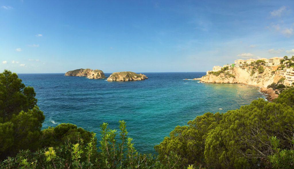 Die Islas Malgrats vor Santa Ponsa auf Mallorca. Foto: Sascha Tegtmeyer
