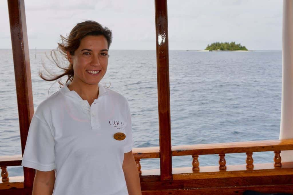 Meeresbiologin Sonia Valladares forscht im Indischen Ozean. Foto: Sascha Tegtmeyer