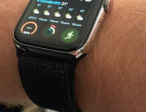Apple Watch Sport Loop Test Bestseller: Das Apple Watch Sport Loop in Schwarz ist häufig ausverkauft und sieht auch an der Apple Watch Series 4 verdammt gut aus. Foto: Sascha Tegtmeyer