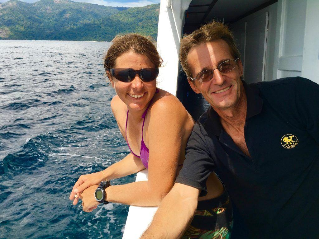 Dave und Cecile von den Ocean Pro Divers bei der Tagestour. Foto: Sascha Tegtmeyer