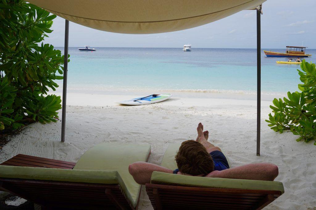Einfach mal entspannen – auf Coco Bodu Hithi kann man guten Gewissens auch mal Nichts tun! Foto: Sascha Tegtmeyer