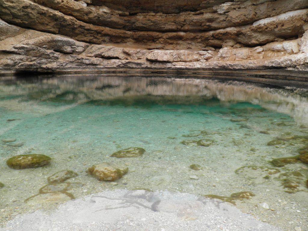 Natürlicher Swimming Pool im Fels: der Oman hat atemberaubende Landschaften zu bieten. Foto: Pixabay