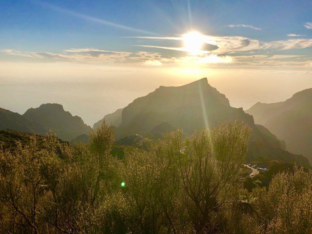 Masca Gebirge: Abendpanorama auf Teneriffa. Foto: Sascha Tegtmeyer