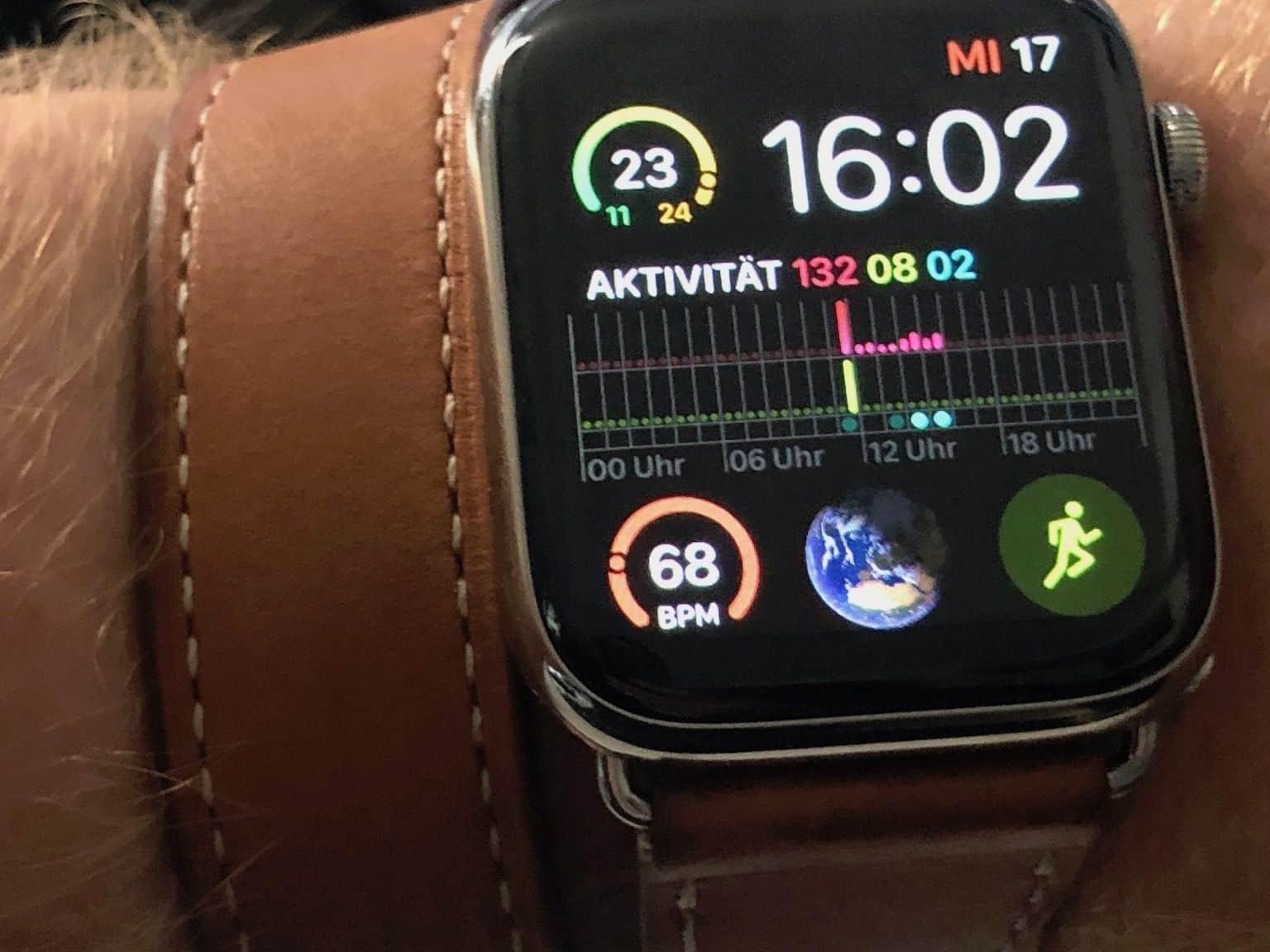 Infograph Modular: Bis zu sechs farbige Apple Watch Komplikationen auf dem Display anzeigen. Foto: Sascha Tegtmeyer