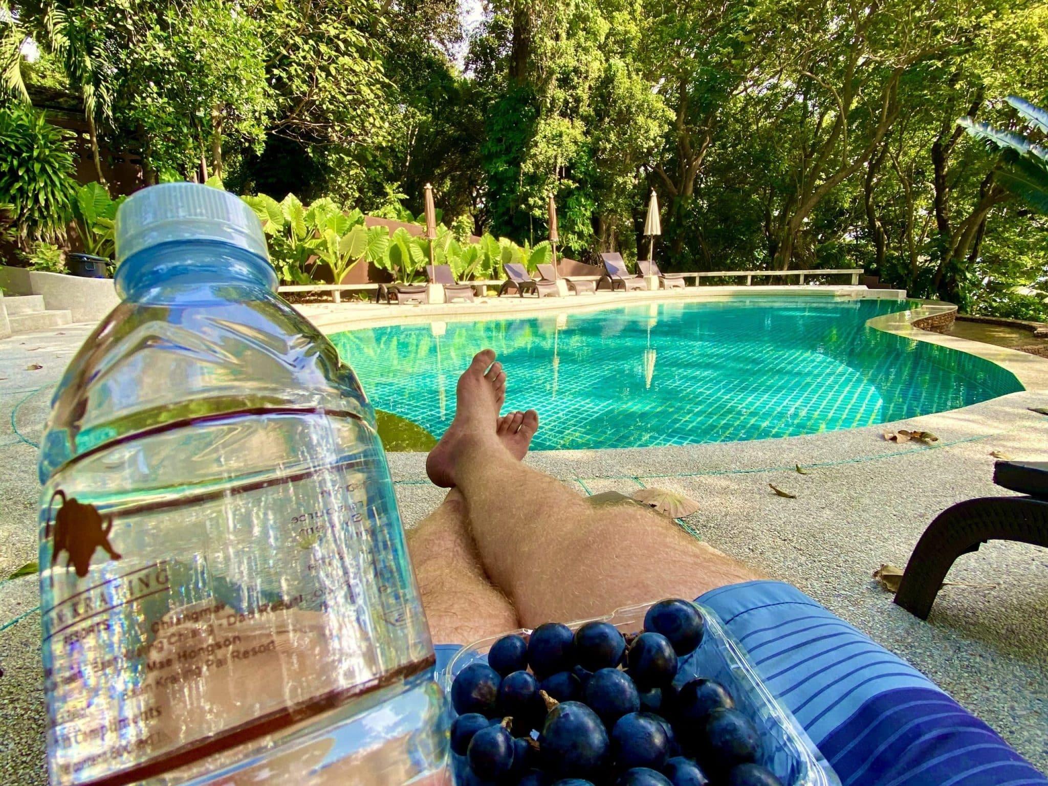 Meinen letzten Digital Detox Urlaub habe ich in einem abgelegenen Resort in Thailand verbracht – und sowohl physisch als auch psychisch Detox gemacht – mit gutem Essen und möglichst ohne Smartphone. Foto: Sascha Tegtmeyer