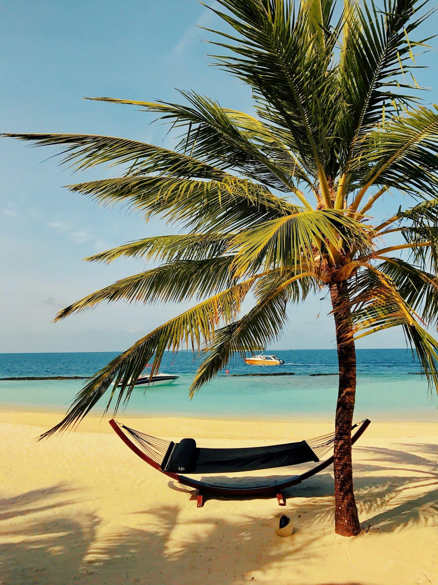 Auf der Hängematte am Strand liegen und die Seele baumeln lassen – so stellen sich viele Reisende einen Aufenthalt auf den Malediven vor. Foto: Sascha Tegtmeyer Reisebericht Malediven Tipps